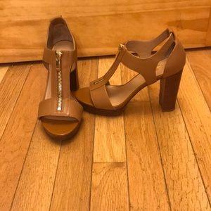 Franco Sarto tan stack heel